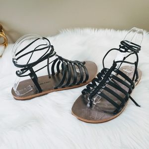 Lucky Brand | 6.5 Colette Black Lace Up Sandals
